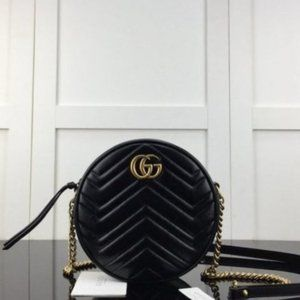 GUCCI GG Marmont mini round shoulder Black bagthay
